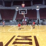 WKU has arrived in Starkville and are on the court getting up shots. http://t.co/AINATLb37G