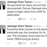 PTI SG @JahangirKTareen rebuts Pervez Rasheeds allegations http://t.co/4QwaxXwex3 http://t.co/a5M7ZQSuVd