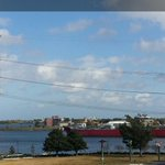 Ships on the River right by Algiers Point #fb #nola http://t.co/c9ldPd8nDN