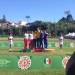 Premiación Recurvo en equipo #TiroConArco ¡#Colombia se lleva el oro! #Mexico plata y #Cuba bronce #Veracruz2014 http://t.co/LnHMQ39elf