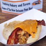 .@PoBoyFest doesnt get much better than this! The Baby Maker with fried oysters and bacon from @ParkwayPoorboys! http://t.co/MnX4PFeeSg