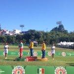 ¡Felicidades #Colombia! oro en arco recurvo femenil, plata #Mexico y bronce #Colombia #Veracruz2014 http://t.co/y9CaHoKz0I