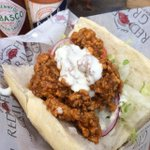 My favorite poboy - BBQ Oyster from @redfishgrill. #PoboyFest http://t.co/zSRIbXeWS3 http://t.co/MZJbW2xVz5