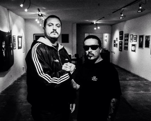 Me and @misterctoons at our first art show in  the 90's in Los Angeles on Vermont -XL Store owned it http://t.co/rQmCUlLlp7