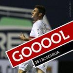 Boschilia recebeu dentro da área e de pé esquerdo pôs pro fundo do gol do Santos. @SaoPauloFC 1 x 0 @santosfc http://t.co/3xwIjunQIf