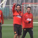 Radamel Falcao returned to full training today after recovering from a calf injury. #MUFC http://t.co/hr2896JyIB