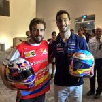 And finally for now thank you @alo_oficial for the helmet swap! Enjoyed racing wheel to wheel with you this year 😊👍 http://t.co/IvO1uD6jvC