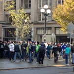 Walking to the game from downtown in a flock of Seahawks. #AZvsSEA http://t.co/zngcVPpMOc