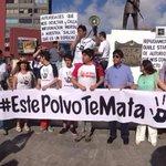 Discurso final de la marcha de  hoy #EstePolvoTeMata todos unidos por la misma causa la salud de las familias de Afta http://t.co/nShn4UANcn