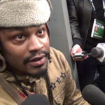 VIDEO: Marshawn Lynch was a man of few words with the media after Seattle's win vs. Arizona http://t.co/vD4bi4BiXS http://t.co/aMIxnLIzB7