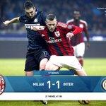 FT Milan 1-1 Internazionale (Menez 23 -  Obi 61) #ForzaMilan #DerbyDellaMadonnina http://t.co/9ip78UtpV2
