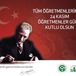 Başta Başöğretmen Mustafa Kemal ATATÜRK olmak üzere, tüm öğretmenlerimizin 24 Kasım Öğretmenler Günü kutlu olsun. http://t.co/KCcXhgodjz