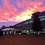 A beautiful #TieDyeSky over Georgia Tech and Atlanta this evening. #LoveBeingHere http://t.co/6lV29pis4f