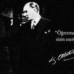 Başöğretmen Mustafa Kemal ATATÜRK başta, izinden giden annem ve bütün öğretmenlerimizin Öğretmenler Günü Kutlu Olsun! http://t.co/bQxesIESdl