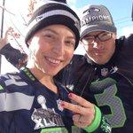 Keeping it real, @Seahawks #12thMan REAL! #GoHawks @SeattleActorDSH & I are here in our @MoneyLynch @DangeRussWilson http://t.co/fi5Q44VluU