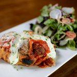 Polpette Baguette- Handmade meatballs, pomodoro, fresh mozzarella, roast pepper Youre welcome!!! #yvr #foodie http://t.co/BxQ1xqMKLe
