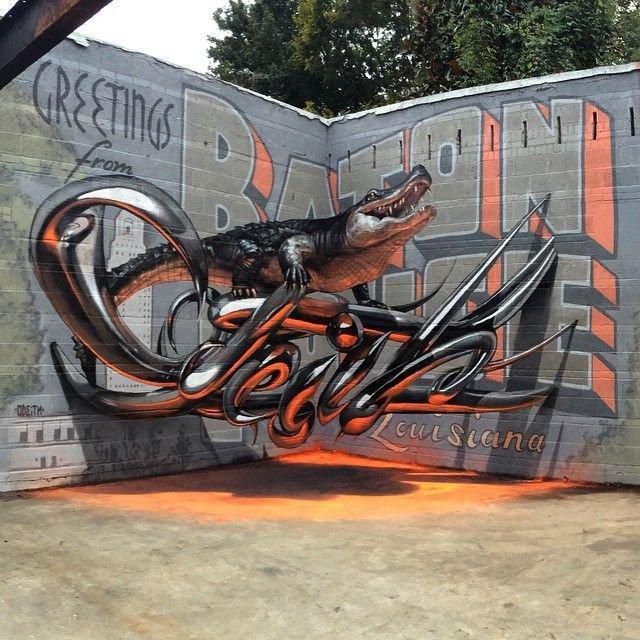 Street art in Lisbon Portugal by graffiti artist Odeith http://t.co/GKqG0O5L9s