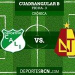 Deportivo Cali venció 2-1 al Tolima y revivió en el Grupo B. http://t.co/lzdCtBfQnT http://t.co/sLiSkb46k7