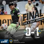 FINAL - @LAGalaxy takes the 1-0 edge back to Seattle with the win in Leg One. http://t.co/4mnXJrj0ba #LAvSEA http://t.co/wFWHxOH3oJ