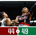 HALF: #Blazers 44, #Celtics 49 PTS: LA 11 REB: LA 7 AST: 2 with 2 #PORatBOS -- STATS: http://t.co/nPvyhufxQG http://t.co/VmBaTzDn9V