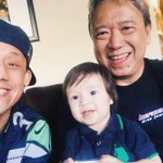 Watching the Seahawks win with my Pops and nephew! Great win today!! http://t.co/Jy4113XTYV