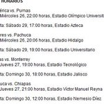 Asi serian los horarios de la Liguilla en la #LigaMX http://t.co/c10JbvNL5L