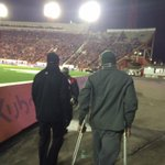 Mike Reilly returns to the Eskimos sideline on crutches to watch the rest of this game. http://t.co/8vfCi0wDLK