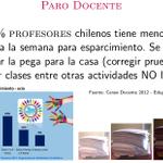 79% de los profesores chilenos tiene menos de 4 horas/semana para esparcimiento. Se deben llevar la pega para la casa http://t.co/kEWsoAUgUZ