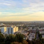 Panoramic of #LA at sunset from hiking the Hollywood Hills. #mydayinLA #sunsetsunday http://t.co/ukRDSTExDk
