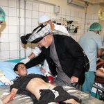 Photo: Pres #Ghani visits #SDK Hospital to check on health condition of civilians injured in #Paktika suicide attack http://t.co/mfTBc0AaTL
