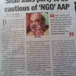 Mr Shah, AAP is not an NGO. AAP is common folk of this country whom youve fooled for decades. Wake up #Mufflerman https://t.co/Qu8G7jUOlT