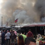 Fire at the Old Market in Phnom Penh earlier this morning #Cambodia http://t.co/JMMUzyvPJD