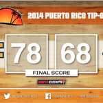 Take me home, country roads! @CoachHuggs & @WVUHoops knock off @UConnMBB for the #PRTipOff14 title! http://t.co/jskgOZewUF