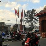 This is how flags are waving in the city for #Saarc #kathmandu http://t.co/OJtUkGCTss