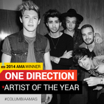 """PROUD. """"@ColumbiaRecords: There you have it! @OneDirection wins Artist of the Year! #AMAs http://t.co/z1VUAY9VWg"""""""
