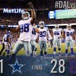 FINAL: Cowboys 31, Giants 28 http://t.co/F5luIl0ZHB http://t.co/HeDajm3noI