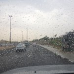 Rainspots on the windscreen in #Doha. The excitement is palpable.. http://t.co/E76h6vhnYd