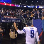 Hell yeah!! RT @dallascowboys: Romo heading to the locker room to crazy Cowboys fans chanting his name #DALvsNYG http://t.co/OH9q5i9qft