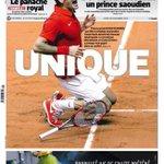 Maravillosa portada de LEquipe ensalzando al rival que ha derrotado a tu propio país. Otro nivel de periodismo. http://t.co/xNmK2FlnJX