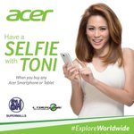 Want a selfie picture with Ms. Toni Gonzaga? Buy an @AcerPhils smartphone at SM Marikina starting Nov. 22-29! http://t.co/uwhhb88jJH
