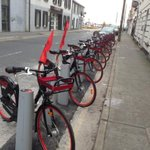 #Galway bike share scheme ready for road. Bikes at a few stations already. System due to go live at noon http://t.co/OLGrTazwH2