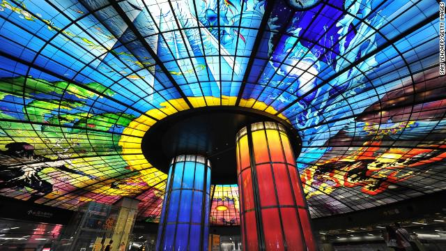 This Taiwan metro station has the world's largest glass artwork. More amazing stations here: