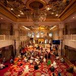 The main hall of Gurudwara Sis Ganj. The tree under which Guru Teg Bahadur ji was beheaded is also preserved here http://t.co/2SIJzznlPM