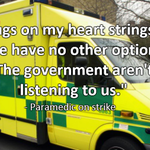 Paramedic speaks about #NHSstrike and the responsibility he feels towards members of the public this morning http://t.co/zAifnzzJmO