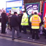 Greens serving hot coffees to NHS workers Southmead Hospital #nhsstrike @unison @unite http://t.co/RZYSiW3mRb