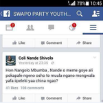 Meanwhile on facebook Mbumba is under pressure http://t.co/NOlCGUeX3b