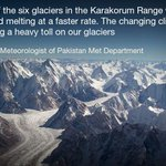 """This is #Distressing """"@dawn_com: Study of melting glaciers worries meteorologists 