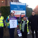 Picket line in Norwich, nurses safeguarding NHS for the common good http://t.co/sOMBuCFgAK