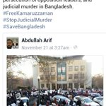 #Bangladesh #stopJudicialKilling #FreeKamaruzzaman #FreeJamaatLeaders #saveBangladesh Oust #FascistHasina http://t.co/G5YgSHJU6w