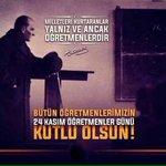 Başöğretmen Mustafa Kemal Atatürk başta olmak üzere bütün öğretmenlerin Öğretmenler Günü kutlu olsun. http://t.co/Su4kANQRc6